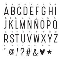 """Symbolset """"Basic"""" für die Lightbox von A Little Lovely Company"""